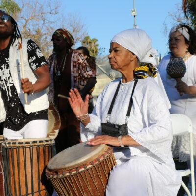 Rene Fisher Mims and others perform at the 2018 of Djanjoba Festival of Los Angeles. Photo: S. Narang/ACTA