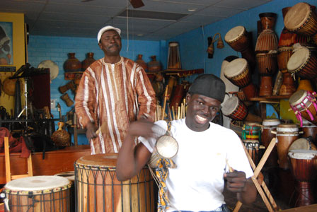 Master Fulani drummer Malik Sow and his son and 2009 apprentice Magatte Sow (2009)